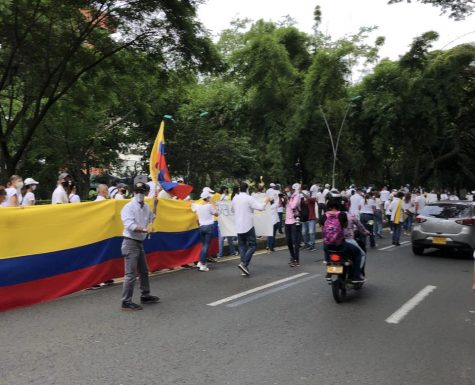 Peaceful protests that took place in one of Colombia