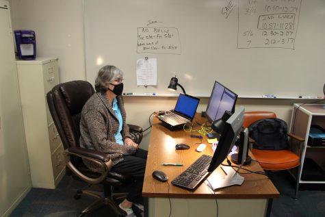 Math teacher Kimberly Marcic teaches to her AP Java class 4th hour. Maricic