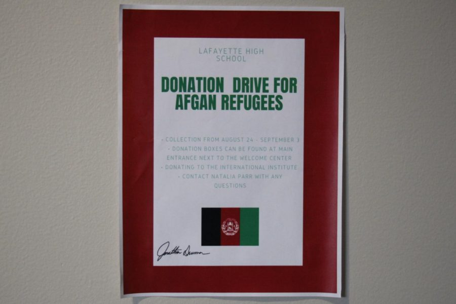 The donation drive for Afghanistan Refugees will end on Sept. 3. Items being collected include personal care items such as toothbrushes, toothpaste and soap, new linens, cleaning supplies and kitchen items like bowls or pots.