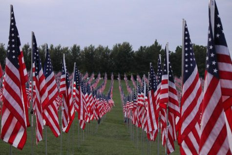 On Art Hill in Forest Park, a special memorial for the 9/11 anniversary displays nearly 7,500 American flags — one for each of the nation's men and women killed in military combat since the terrorist attacks of Sept. 11, 2001, as well as the 412 first responders who died in the line of duty that day. Lafayette held its own Patriot Day Ceremony on Sept. 10 .