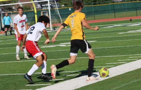 In a game against Parkway South on Sept. 8, Lafayette won 4-1. Senior Kaden Karr scored one of the four goals of the game in addition to sophomores Blake Klostermann, who scored the game winning goal, Matt Monschein and Daxton Shawke.