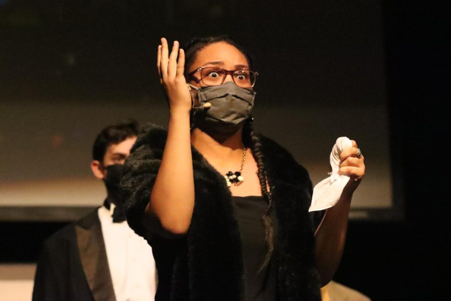 Cazembes character, Mrs. White, reveals to the audience her guilt over the murder of her husband after being accused of being the murderer among the group.