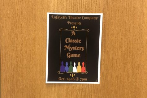 Classic Mystery Game will be performed on Oct. 14, 15 and 16 at 7 p.m. in the Theater. Tickets will be sold for $5 during all lunch shifts starting Oct. 11 and will also be available at the front of the Theater prior to the performances for $8.