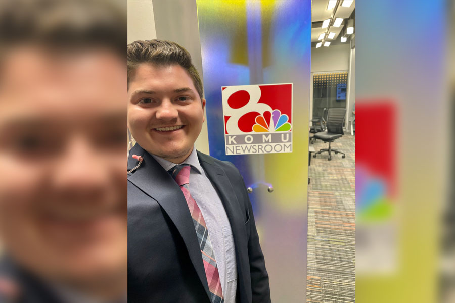 Drew Cusumano, class of 2016, has worked at KOMU 8 News as a news anchor, reporter and producer. KOMU is located in Columbia, Missouri and is used as a working lab for students attending the School of Journalism at the University of Missouri.