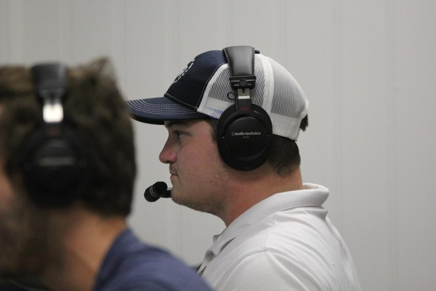 Class of 2016 graduate Drew Cusumano helps to call plays for the Lafayette Homecoming Game. I felt like every teacher was now a friend that was always there. Ill be sure to be back when Im calling games for the Blues or the Cardinals, Cusumano said.